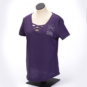 Ladies Crisscross Bling Tee