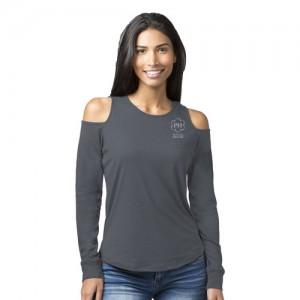 Ladies Cold Shoulder long sleeve tee