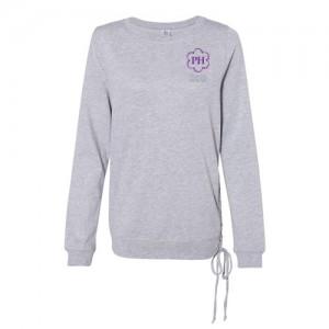 Ladies Lace Up Sweatshirt