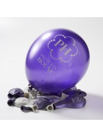 Balloons - purple and silver
